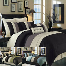 Elegant Luxury Hudson 8-Piece Bed in a Bag, Down Comforter & Decorative Pillows