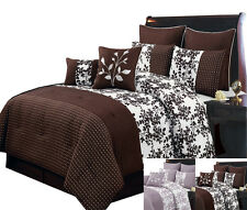 Bliss 100% Polyester 8-PC Bed in a Bag Bedding Set