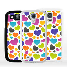 Cover Custodia per smartphone Samsung Galaxy A J S Edge Note Mini CUORI colorati
