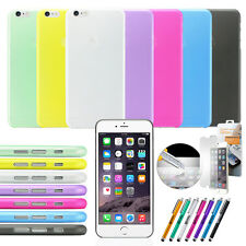 Ultra Thin Clear Crystal Rubber TPU Soft Case Cover For 11.9cm iPhone 6 S Plus