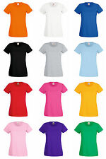 T-Shirt donna Fruit of the Loom Lady Fit Valueweight 100% cotone Belcoro 165 Gr