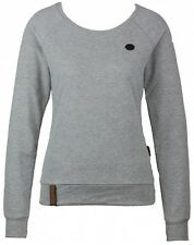 Naketano Damen Sweater Krokettenhorst IV Grey Melange