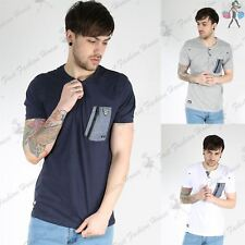 Rawcraft Mens Single Chest Pocket V Button Neck Short Sleeve Soft Touch T Shirt