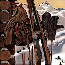 Ski Equipment Still Life by John Atherton Painting Print on Wrapped Canvas