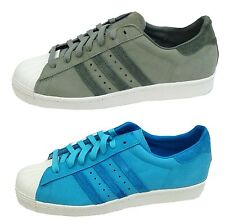 Adidas Mens Superstar 80,s Trainer D65535 D65536 Suede Leather UK 8 up to 10.5