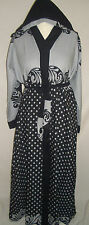 *NEW*Ladies Dubai Nida Abaya Jilbab Kaftan Maxi Dress Grey Print,52,56,58,60