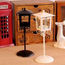 White/Black Vintage Street Lamp Candle Holder TeaLight Candlestick Stand Wedding