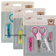 SAFETY BABY MANICURE SET - NAIL CLIPPERS - SCISSORS - COVER & RING   0+ MONTHS