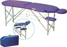 Therapy table Massage Folding bed with Headboard and Armrests, mobile Suitcase
