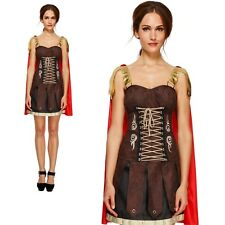 Roman Gladiator Costume Ancient Rome Ladies Sexy Fancy Dress Outfit Size 8 to 18