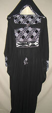 *NEW*Ladies Butterfly Abaya Jilbab Kaftan Maxi Dress Silver checked 52,54,58,60