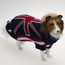 Urtleneck Pet Dog Sweater Warm Clothes with UK national Flag Pattern XXS XS S M