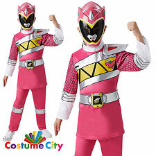 Childs Girls Deluxe Pink Ranger Power Rangers Dino Charge Fancy Dress Costume