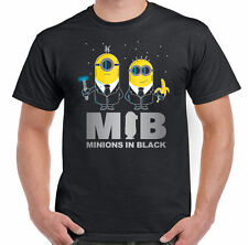 Tshirts Minions In Black - Mens Funny T-Shirt ,Mens t-shirts,Printed T shirts
