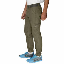 Greentree Mens Cargo Cotton Casual Trouser Jogger Track Pant Olive Cargo MASR31