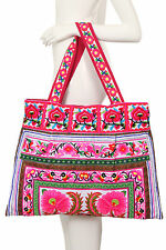 HMONG TOTE SHOULDER BAG THAI ETHNIC HIPPIE PURSE EMBOIDERED LANNA HANDWOVEN