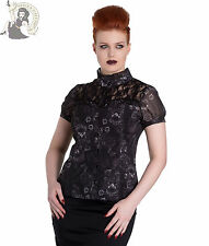 SPIN DOCTOR SCULLION gothic SKULL TOP goth SHIRT BLACK