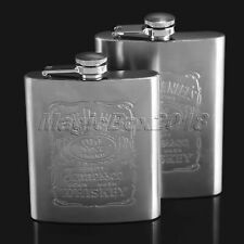 Cool Engraved 7oz / 8oz Hip Flask Flagon Wine Bottle for Outdoor Pocket Men Gift