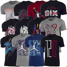 Nike Men's Air Jordan T-Shirt Dri Fit Red Black Grey Cotton Polyester Gym Active