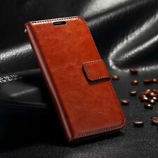 Luxury Leather Magnetic Flip Card Wallet Case Cover For Various Mobile Phones