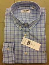 SHIRT LONG SLEEVE CAMICIA LACOSTE MANICA LUNGA REGULAR FIT CH6071 ZDP BLEUTE