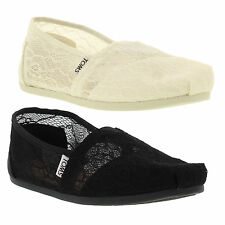 Toms Womens Classic Lace Slip On Espadrille Shoes Size UK 3-10