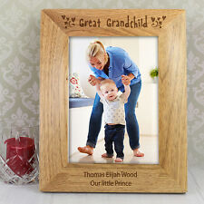 Great Grandchild Wooden Photos Frames - Free Engraving Great Grandparents Gift