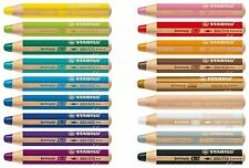Stabilo Woody 3 in 1 Multi-Talented Jumbo Pencils - 18 Colours Available