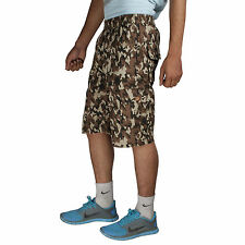 Greentree Mens Cotton Shorts Jungle Print 6 Pocket Cargo Shorts MASR47