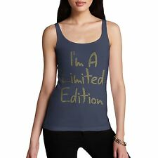 Twisted Envy Women's I'M A Limited Edition Rhinestone Diamante Tank Top