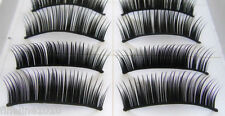 10 Pairs Thick Natural Fake False Eye Lashes Eyelashes Make up