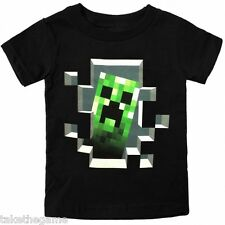 Con Licenza Ufficiale MINECRAFT CREEPER ALL'INTERNO BAMBINI T-SHIRT
