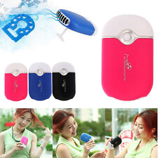 Portable Rechargeable Handheld Fan Air Cooler Mini Air Conditioner Desk USB Fan