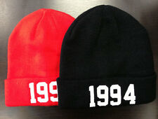 Justin Bieber 1994 Red Beanie Date of Birth 6 Colours Black Burgundy Navy