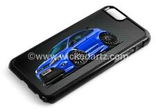 RetroArtz Cartoon Car Ford Focus RS MK2 Blue (BK Alloys) iPhone 6/6+ Case/Cover
