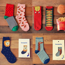Ladies Watermelon Burger French Fries Giraffe Lion Cute Ankle Socks