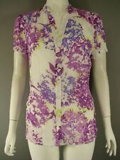 BNWT KALIKO PURPLE MULTI FLORAL PRINT BLOUSE WITH CAMISOLE SIZES 14/16 - RRP £55