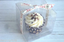 Individual Clear Single Cup Cake Muffin Gift Boxes - Free Inserts - 8.5cm Cube
