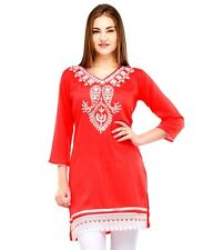 Yogalz Women Red Poly Rayon Designer Casual Party Wear Girls Kurti KRT6026_Rd