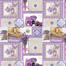 PVC TABLE CLOTH PROVENCE LAVENDER SUNFLOWERS PURPLE ANTIQUE WIPEABLE PROTECTOR