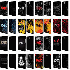 OFFICIAL AC/DC ACDC LOGO LEATHER BOOK WALLET CASE FOR SAMSUNG GALAXY TABLETS