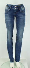 LTB Damen Hose Jeans Jonquil Blue Lapis Wash Used Look Stretch Crinkle L34 blau