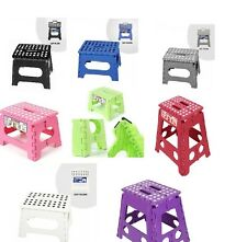 NEW 29CM FOLDING STURDY STEP STOOL KITCHEN HOME GARAGE CARRY STOOL MULTI PURPOSE