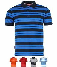 SALDI Slazenger Pique Yarn Dye Polo Mens Red