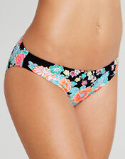 Seafolly Kimono Rose Hipster Bikini Brief Black Blue Orange Floral Size 8 NEW