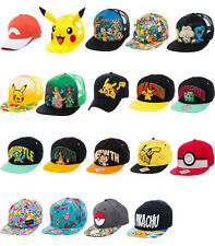 Pokemon Baseball Cap Official Pikachu Squirtle Nintendo characters snapback