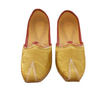 MEN SHOES LEATHER TRADITIONAL GOLDEN WEDDING MOJARI HANDMADE JUTTI KHUSSA