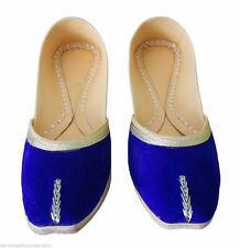 BLUE ROYAL KHUSSA LEATHER HANDMADE SANDAL WOMEN SHOES TRADITIONAL FLAT SIZE 5-8