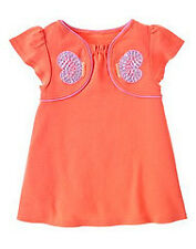 Gymboree Tea Garden sequin butterfly swing top shirt NWT