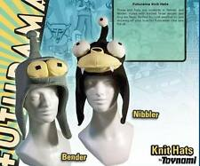 Futurama BENDER/NIBBLER KNITTED HAT TOYNAMI knit beanie woolly women's/men's